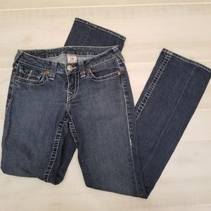 {27} True Religion Hi-Rise Boot Cut Jeans